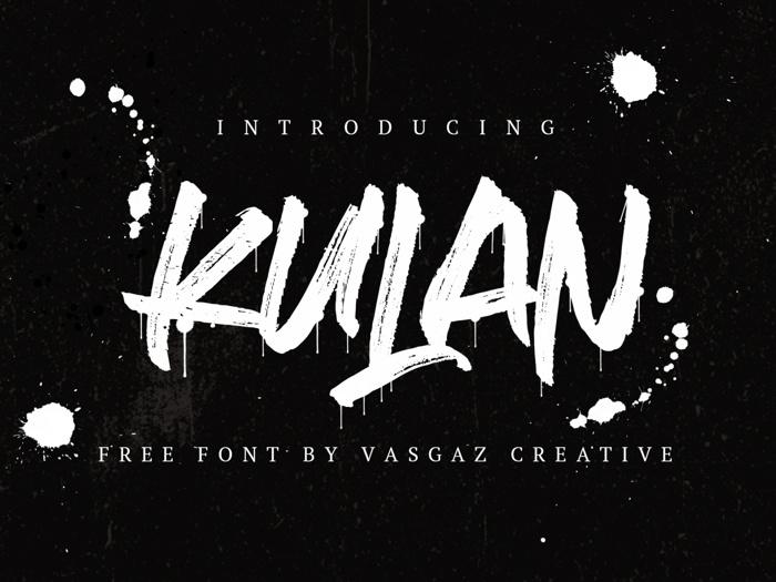 Kulan Font poster