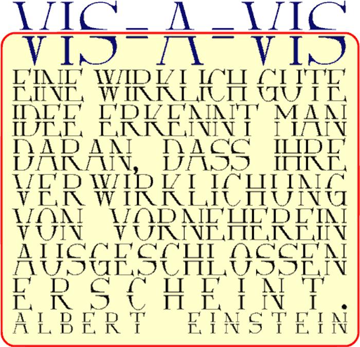 Via-A-Vis Font poster