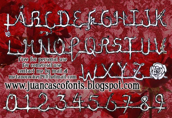 La Rosa Muerta Font poster