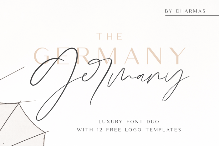 Germany Script Font poster