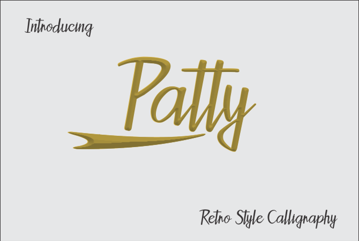 Patty Font poster