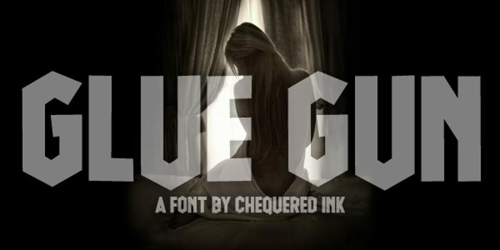 Glue Gun Font poster