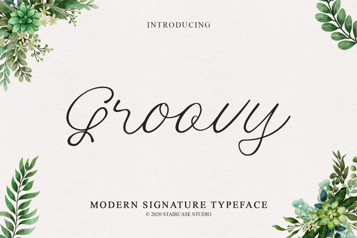 Groovy Font poster