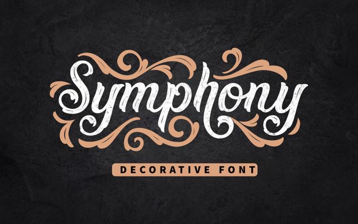 Symphony Font poster
