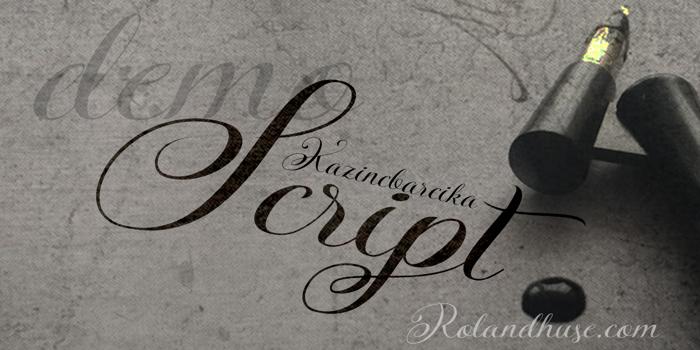KazincBarcika Script Demo Font poster