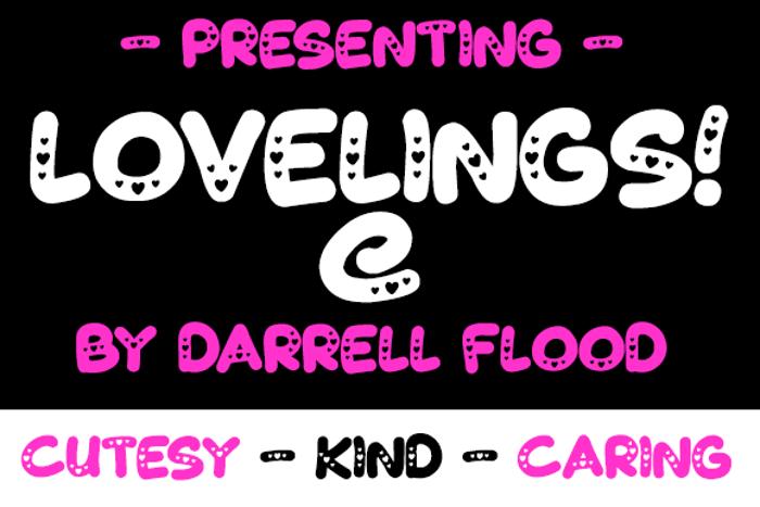 Lovelings Font poster
