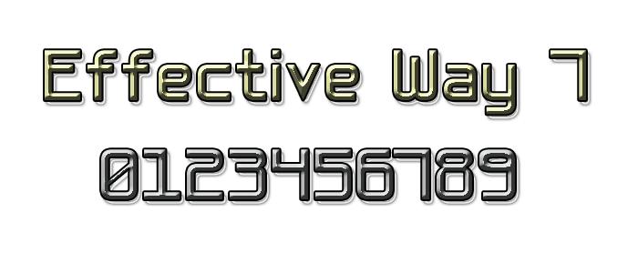 Basic Sans Serif 7 Font poster