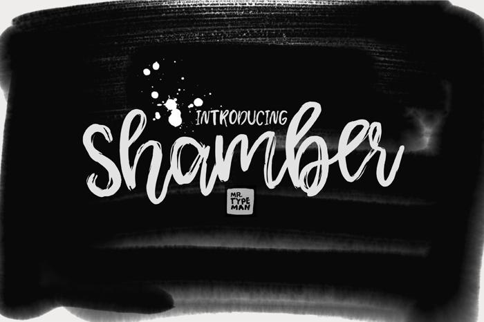 Shamber Font poster