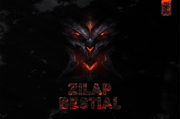 Zilap Bestial Font poster