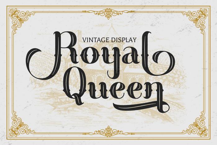Royal Queen Font poster