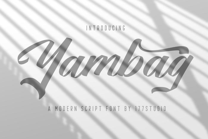 Yambag Font poster