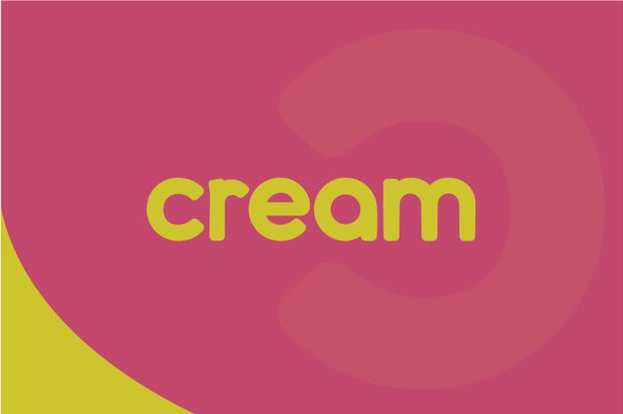 cream Font poster