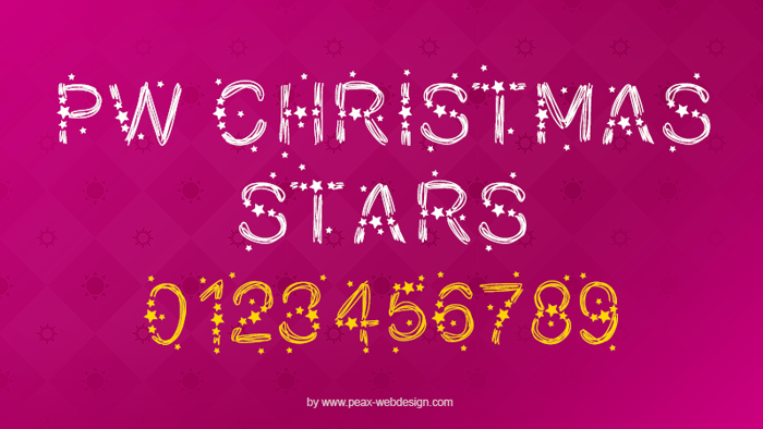 PWChristmasStars Font poster