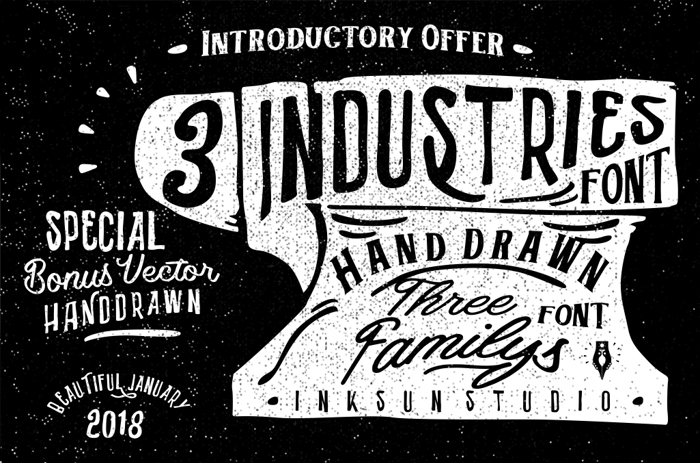 Industries - Hoe Font poster