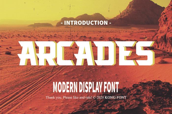 Arcades Font poster
