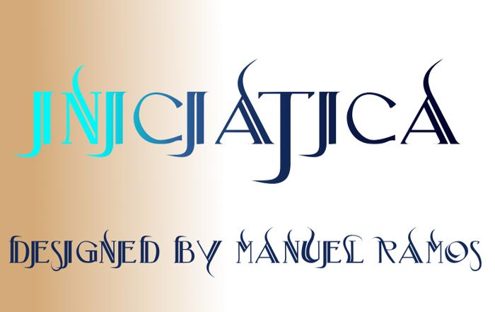 Iniciatica Font poster