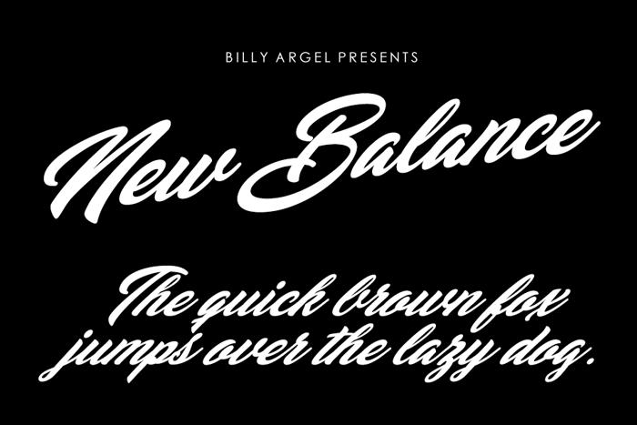 New Balance Font poster
