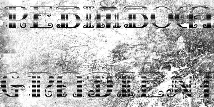 Rebimboca Gradient Font poster