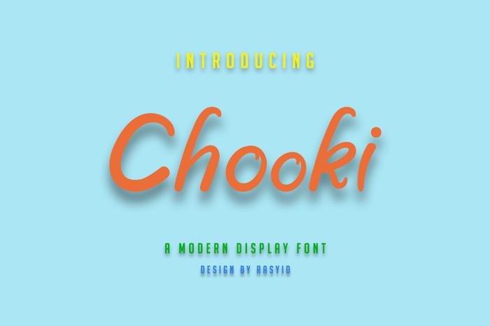 Chooki poster