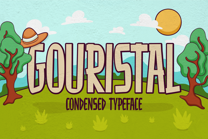 Gouristal Font poster