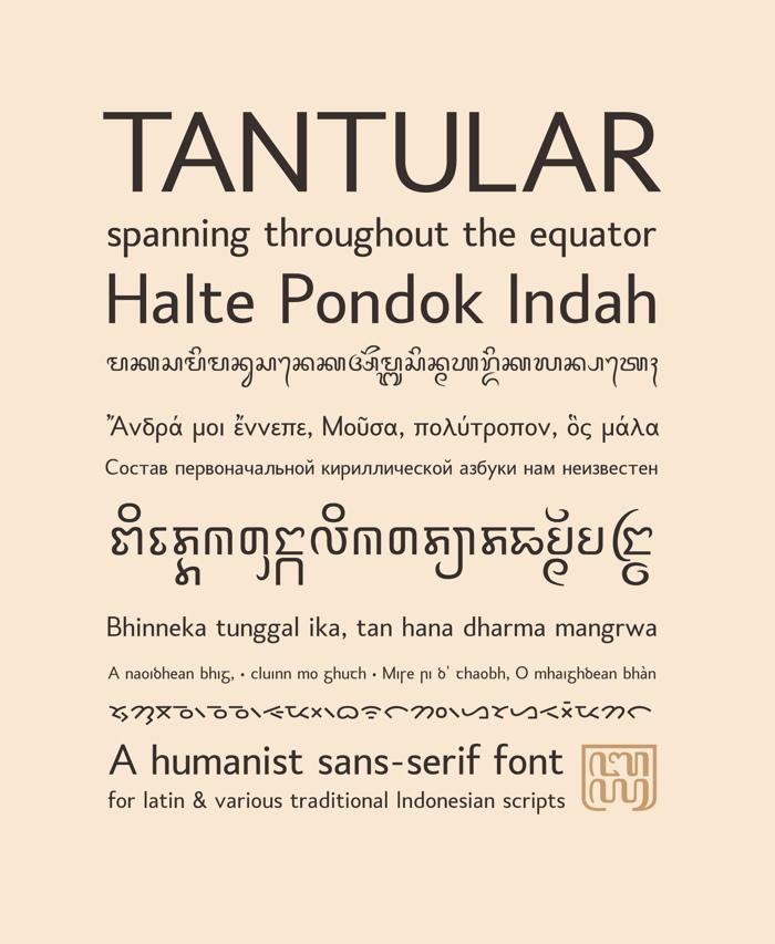 Tantular Font poster