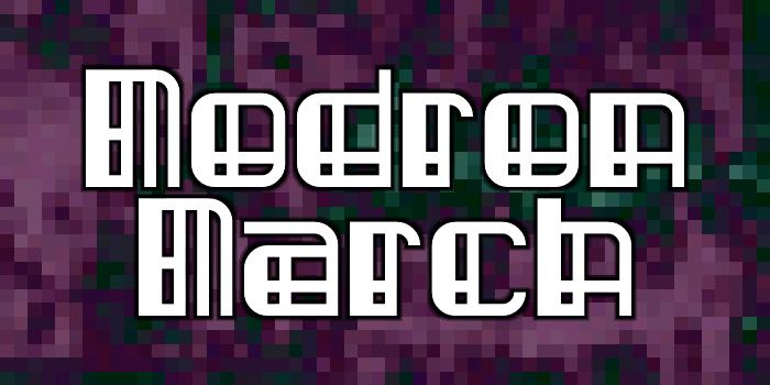 Modron March Font poster