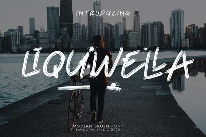 liquwella Font poster