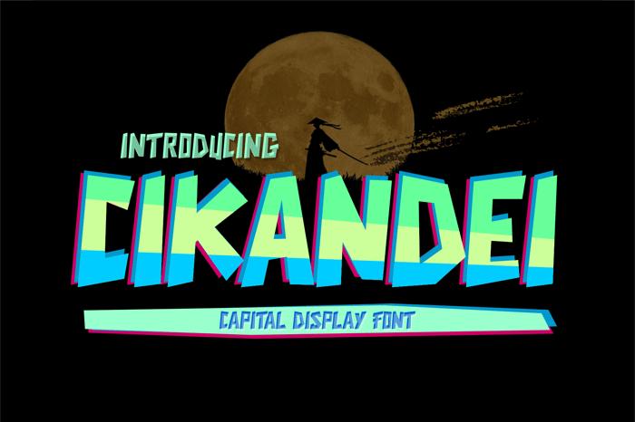 CIKANDEI Font poster