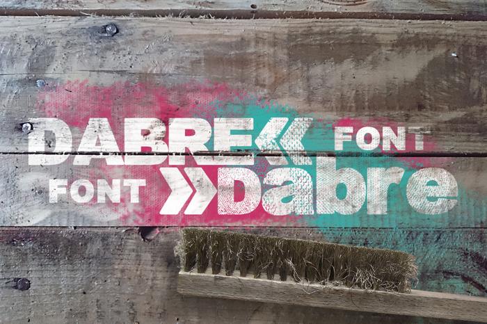 Dabre Grunge Font poster