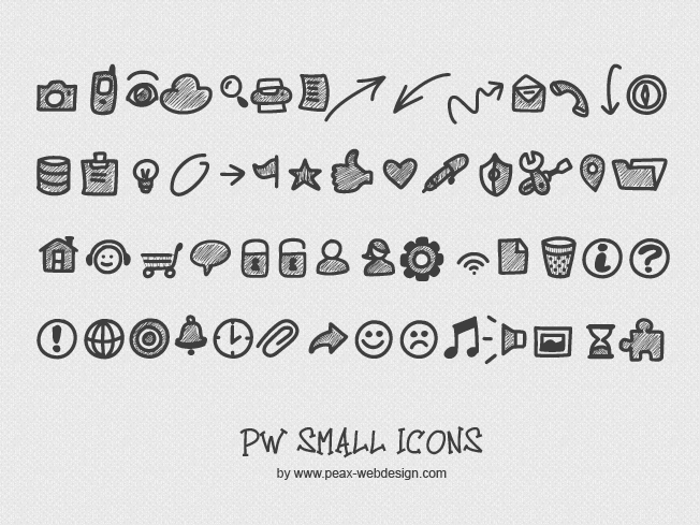PW Small Icons Font poster