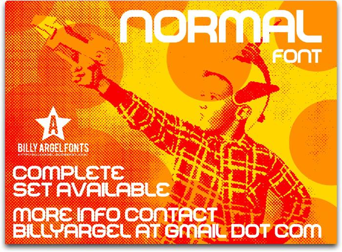 NORMAL Font poster