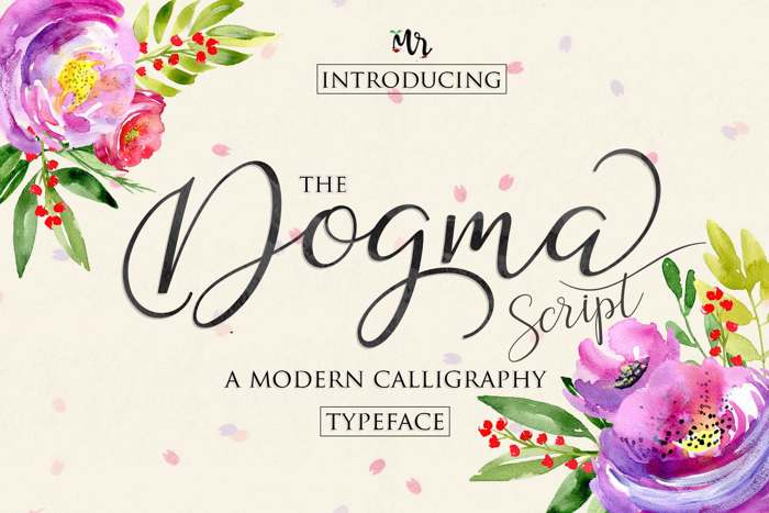 Dogma Script Font poster
