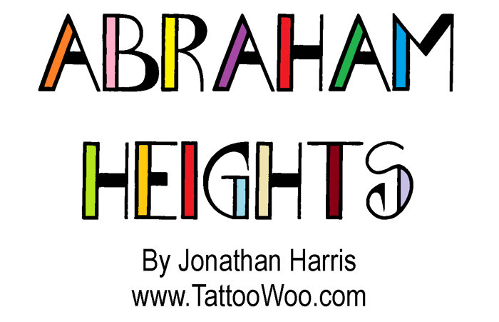 Abraham Heights Font poster