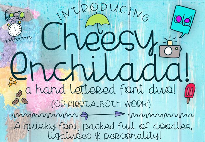 Cheesy Enchilada Doodles Font poster