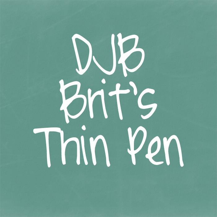 DJB Brit's Thin Pen Font poster