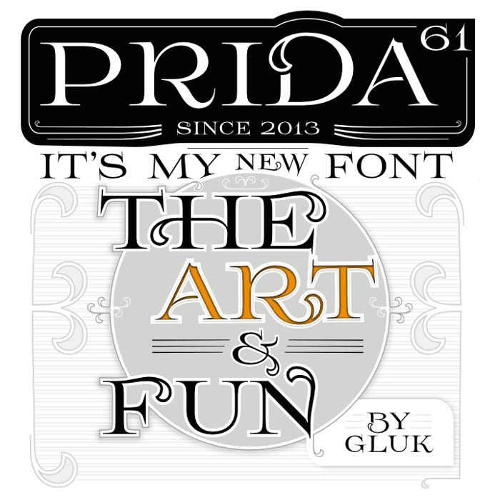 Prida61 Font poster