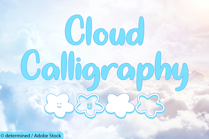 Cloud Calligraphy Font poster