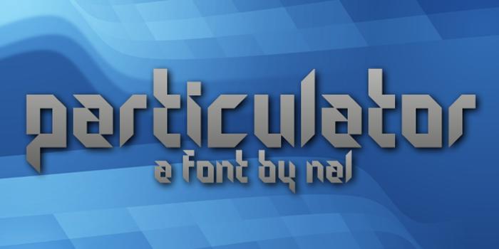 Particulator Font poster