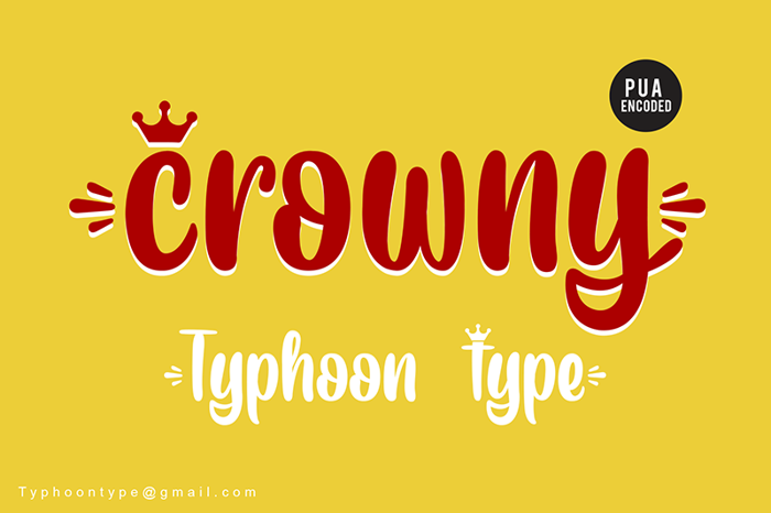 Crowny - Font poster