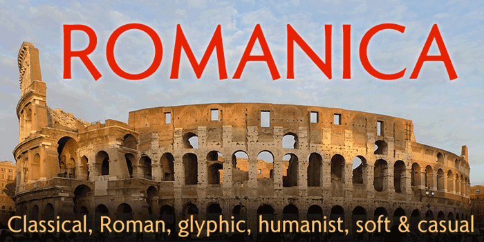 Romanica Font poster