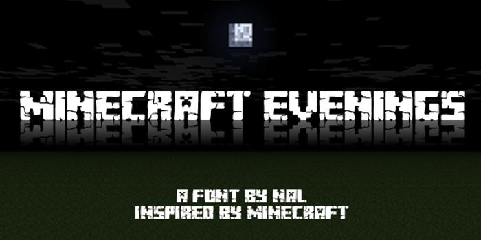 Minecraft Evenings Font poster
