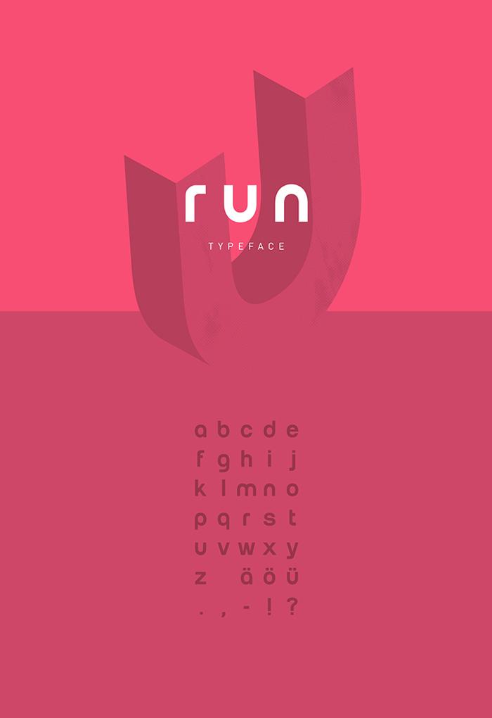 Run Font poster