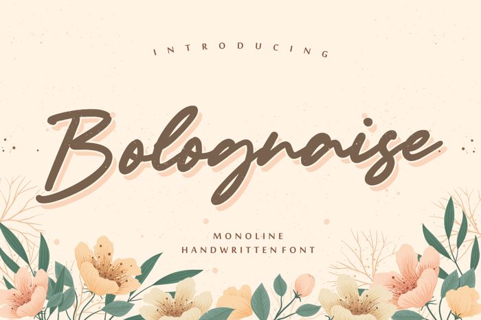Bolognaise Font poster