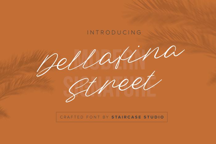 Dellafina Street Font poster