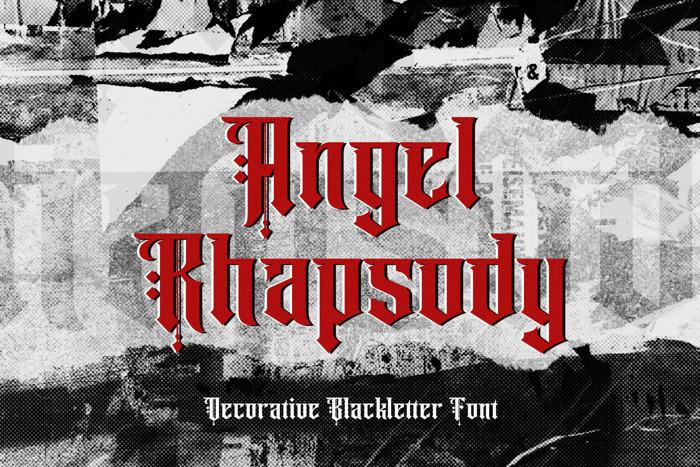 Angel rhapsody Font poster