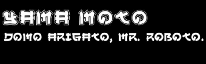 Yama Moto Font poster