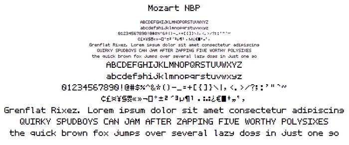 Mozart NBP Font poster