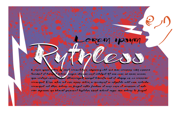 Vtks Ruthless Font poster