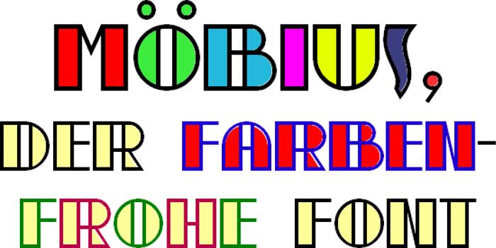 moebius Font poster