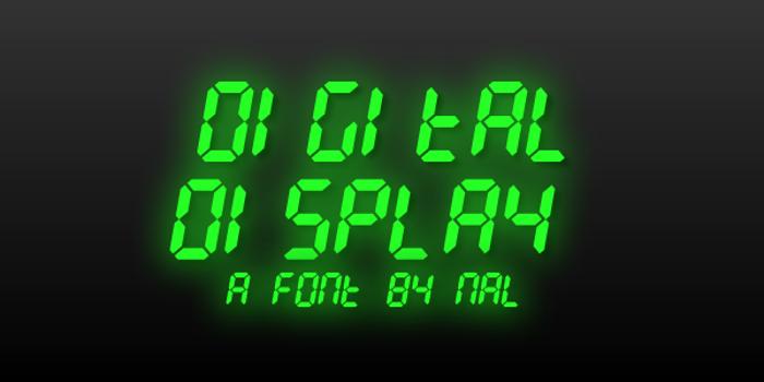 Digital Display Font poster